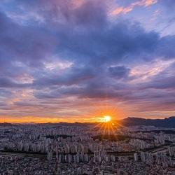 20.7.25 용마산 노을 야경 사진 + 타임랩스